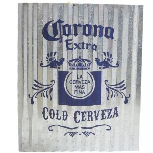 Corona Extra Corrugated Metal Sign 16